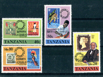 Tanzania 1980 London 1980 Set Of All Four Commemorative Stamps Mnh