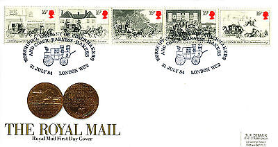 31 July 1984 Royal Mail Coaches Royal Mail First Day Cover Coachmakers Shs