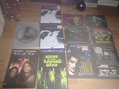 Dvd Cd Horror Lot 11 Trick Or Treat Ghost Halloween Noises Blackmail Saw Dead