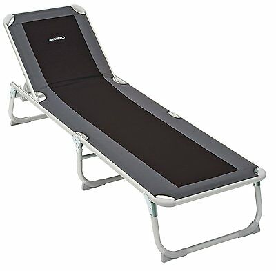 Reclining Sun Lounge Folding Daybed Outdoor Garden Camping Beach Trail Chair