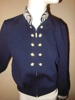 St.john Collection By Marie Gray Navy Santana Knit Zip Front Blazer Jacket P/s