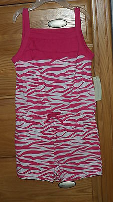 Bobbie Brooks Girls One Piece Shorts & Top Size Xs 4/5 Pink White Nwt