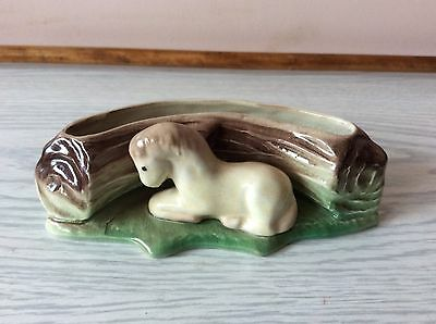 Vintage Eastgate pottery trough and Foal planter
