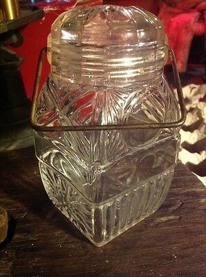 """Small 6.5"""" antique apothecary candy jar"""