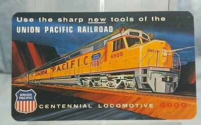 Vintage Advertising Pocket Wallet Calendar Card: 1970 UNION PACIFIC RAILROAD