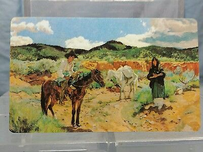 Vintage Advertising Pocket Wallet Calendar Card: 1984 SANTA FE RAILROAD