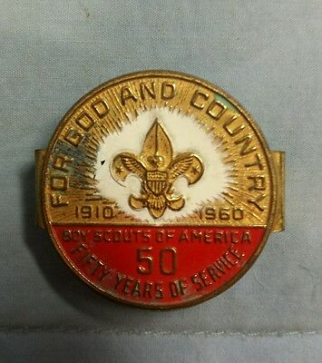 Boy Scout Vintage 50 Years (1910-1960) of Scouting Neckerchief Slide Bolo
