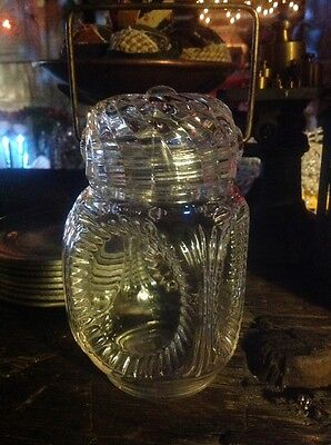 """Small 6"""" Antique Candy Apothecary Jar"""