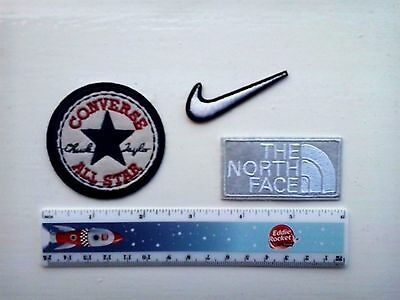 The North Face, Converse, Nike  Embroidered Logo Iron/Sew-on Badge  NEW