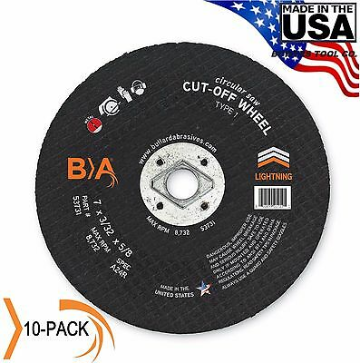 Bullard Abrasives 7 x 3/32 x 5/8 Metal Circular Saw Cut Off Wheel Blade 10-Pack