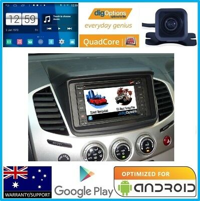 !Android GPS For Mitsubishi Triton Bluetooth Car DVD Navigation Radio Stereo Cam