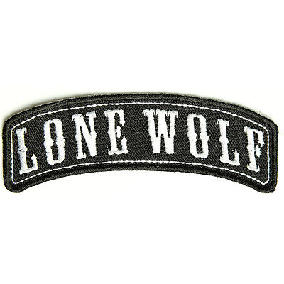 Embroidered Lone Wolf Rocker Iron on Sew on Biker Patch Badge