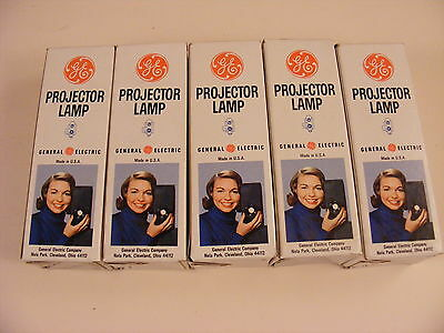 Lot of 5 Vintage GE CAJ/CAC 50W 115-120V Projector Lamp Bulbs  New Old Stock