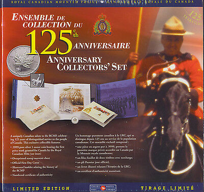 CANADA 1998 125th Anniversary of Royal Canadian Mounted Police RCMP 1 OZ Silver