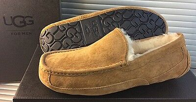 Authentic UGG® Australia Ascot Moccasin Slippers Chestnut 5775 Size 11