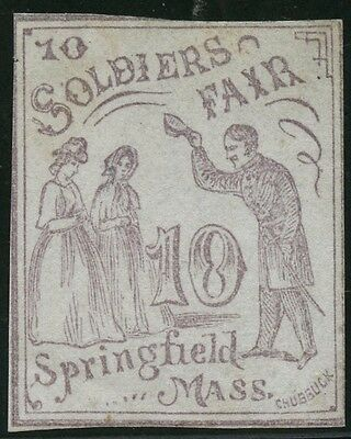 #wv14 10¢ Lilac Sanitary Fair 1864 Imperf Mint Cv $225 Bt5043