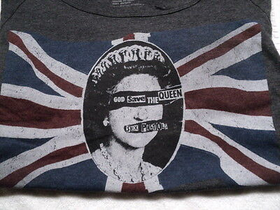 LIVE NATION Merchandise Women's Tee SEX PISTOLS God Save the Queen Small