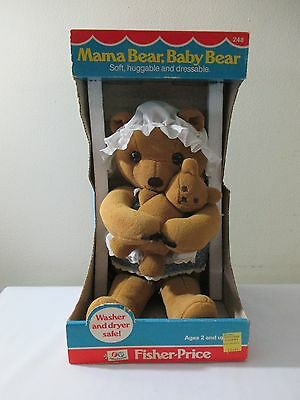New In Box Vintage Fisher Price Mama & Baby Bear Dated 1981 #248 Collectible