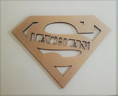 Superman Kids Letters Wall Hanging Wooden Name Sign UNPAINTED Raw MDF