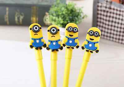 3 x Cute fine point Minion Mike pen Party Cute Kids novelty stationery Gift  Fun