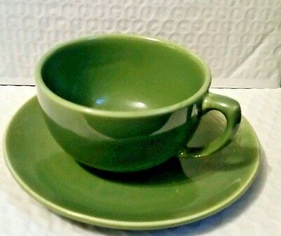 RARE! Bauer Monterey Moderne - OLIVE  Cup and Saucer