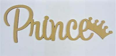 Kids Prince Letters Wall Hanging Wooden Name Sign Nursery UNPAINTED Raw MDF