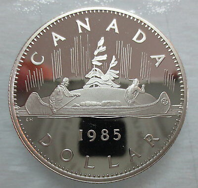 1985 Canada Voyageur Proof One Dollar Coin