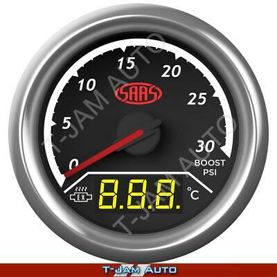 Dual Gauge Boost / Exhaust Temp EGT PYRO 52mm Gauge SAAS Trax NEW