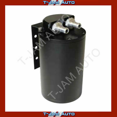 SAAS Baffled Oil Catch Can Black Billet 500cc Compact NEW