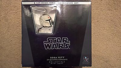 Star Wars GENTLE GIANT BOBA FETT mcquarrie concept mini bust sdcc 2009
