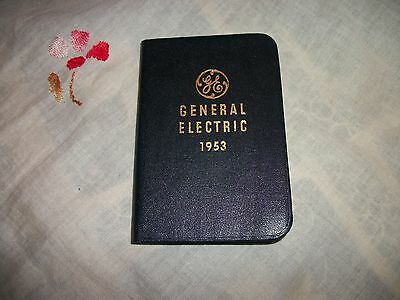 VINTAGE 1953 GENERAL ELECTRIC CALENDAR BOOK DIARY MAPS GE 75th YEAR ANNIVERSRY
