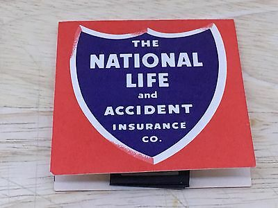 Vintage Advertising Sewing Needle Pack NATIONAL LIFE & ACCIDENT INSURANCE CO.
