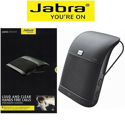 Jabra Freeway Car Speakerphone Bluetooth Wireless HandsFree Car Kit Speaker NEW