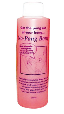 No Pong Bong Cleaner non toxic bong water pipe vaporizer cleaner 250ML