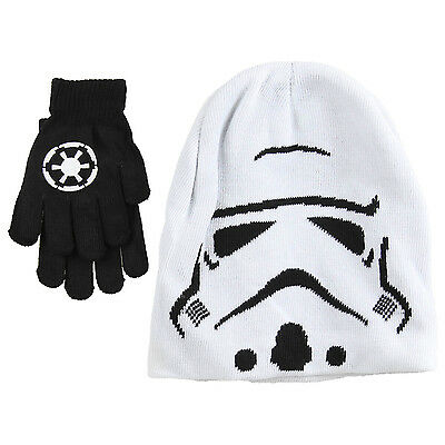 Official Disney Star Wars Kids Boys One Size Knitted Hat & Glove Set Xmas Gift