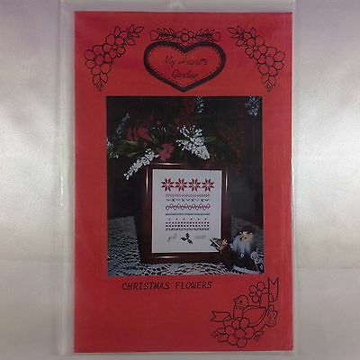 "Vintage Cross Stitch Chart ""Christmas Flowers"" by My Heart's Garden"