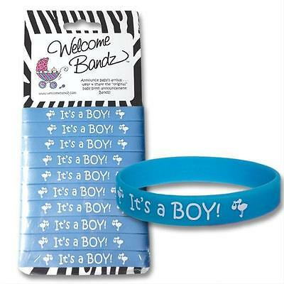 Baby Boy Birth Announcements : Welcome Bandz It's A Boy Bracelets - Set of 10