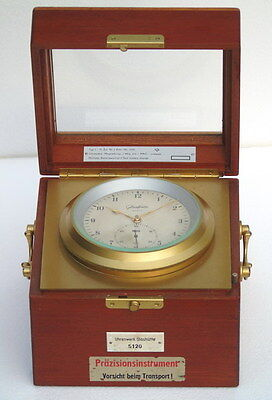 Vintage Uhrenwerk Glashutte Ships Marine Chronometer Deck Watch Clock
