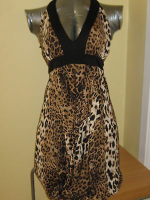 NWT BABY PHAT LEOPARD HALTER Summer BUBBLE DRESS SEXY CAT COSTUME $119 Retail