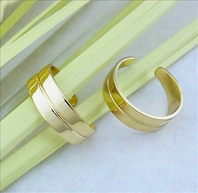 X1 14CT Gold Plated Over Brass Toe Ring - Adjustable