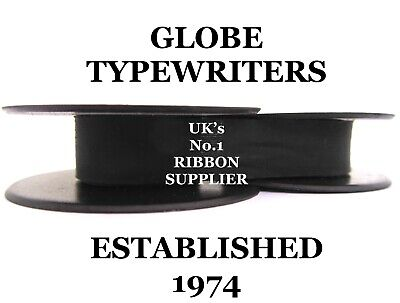 1 x IMPERIAL B *BLACK* TOP QUALITY TYPEWRITER RIBBON *MANUAL REWIND+INSTRUCTIONS