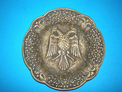 Bronze Greek plate decorated with a two-headed eagle from the 18-19th century