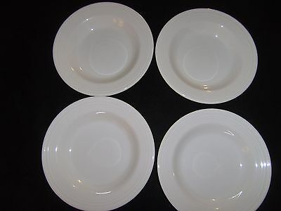 4 Homer Laughlin FIESTA White Rimmed Soup Bowls  Brand NEW
