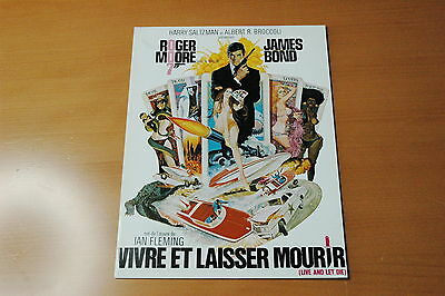 Roger Moore Jane Seymour  James Bond 007 Live And Let Die  1973 Rare Synopsis