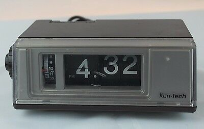 Vintage - Ken-Tech Flip Clock Radio - Alarm - Model T-405
