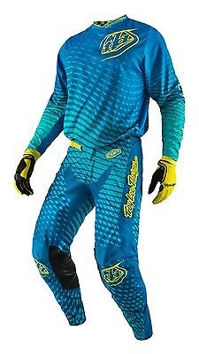 New 2017 32 M Troy Lee Designs BLUE/YELLOW Jersey Pants Kit MX Enduro