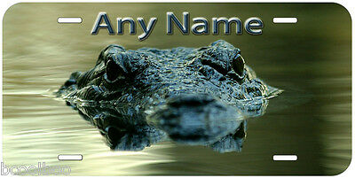 Crocodile Eye Aluminum Any Name Personalized Novelty Auto Car License Plate