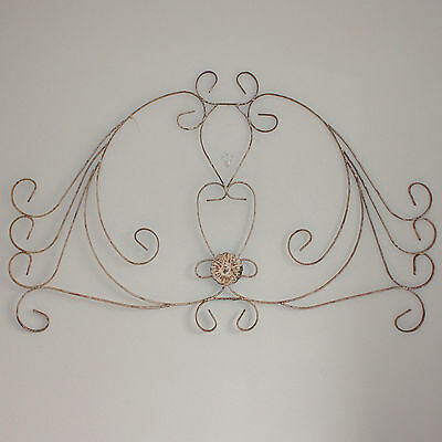 Antique Handcrafted Iron Panel, Architectural Element Pediment