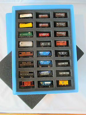 24 x Mixed Goods Wagons in Case. Tankers,Hoppers,Mineral,Brake,etc.Graham Farish
