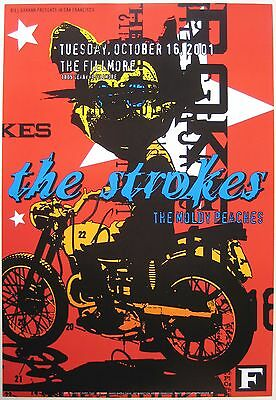 The Strokes Poster w/ The Moldy Peaches F 483 2001 Concert
